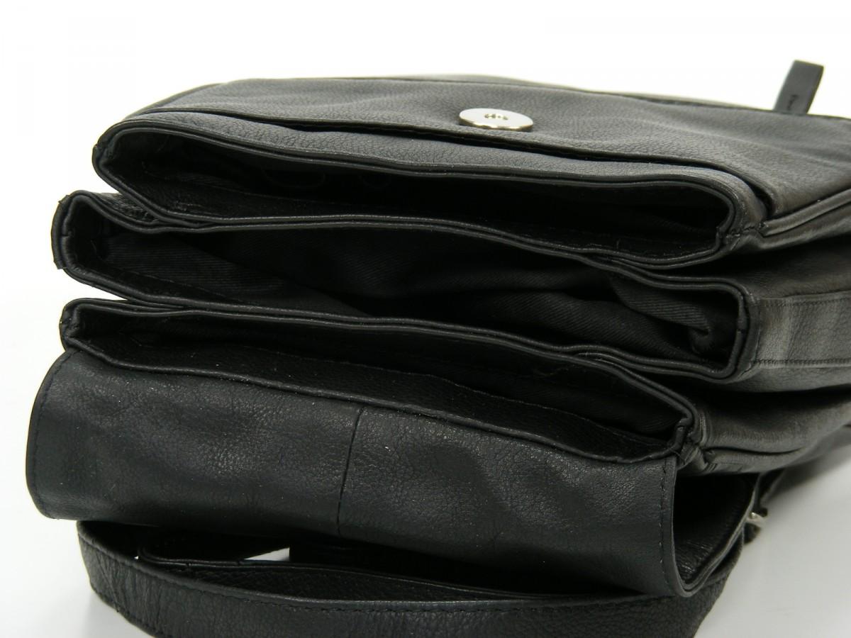 fancy tasche damen umh ngetasche rucksack leder schwarz. Black Bedroom Furniture Sets. Home Design Ideas