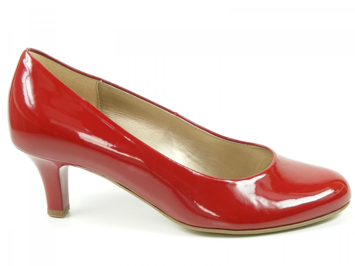 gabor schuhe damen pumps high heels rot lack weite f 65 200 95 ebay. Black Bedroom Furniture Sets. Home Design Ideas