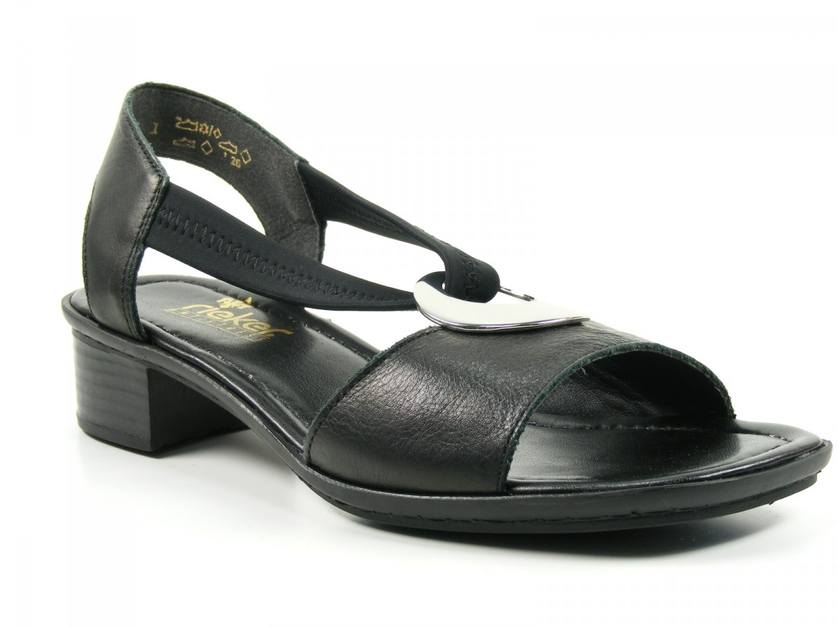 rieker schuhe damen sandalen sandaletten schwarz 62662 01. Black Bedroom Furniture Sets. Home Design Ideas