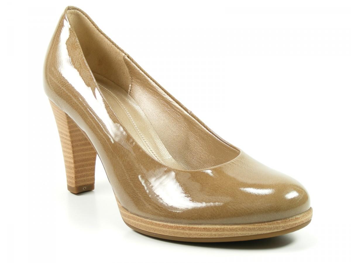 gabor schuhe damen plateau pumps high heels weite f taupe. Black Bedroom Furniture Sets. Home Design Ideas