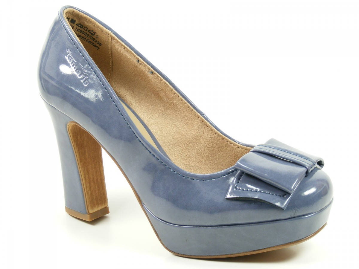 tamaris schuhe plateau pumps high heels stiletto blau denim lack 1 22427 20 802 ebay. Black Bedroom Furniture Sets. Home Design Ideas