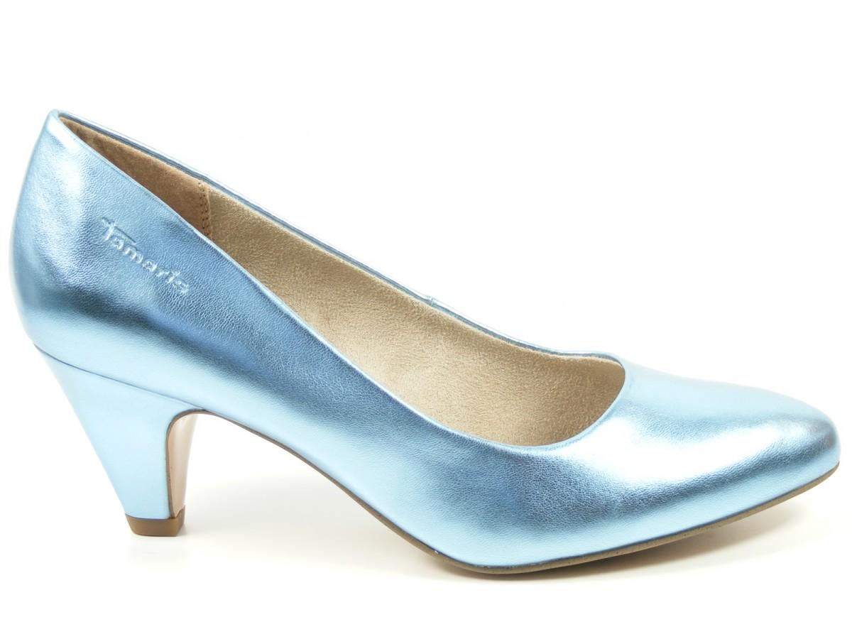 tamaris schuhe damen pumps blau metallic sky 1 22417 20 833. Black Bedroom Furniture Sets. Home Design Ideas
