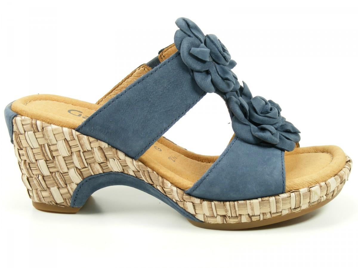 gabor schuhe damen sandalen pantoletten clogs kork weite g. Black Bedroom Furniture Sets. Home Design Ideas