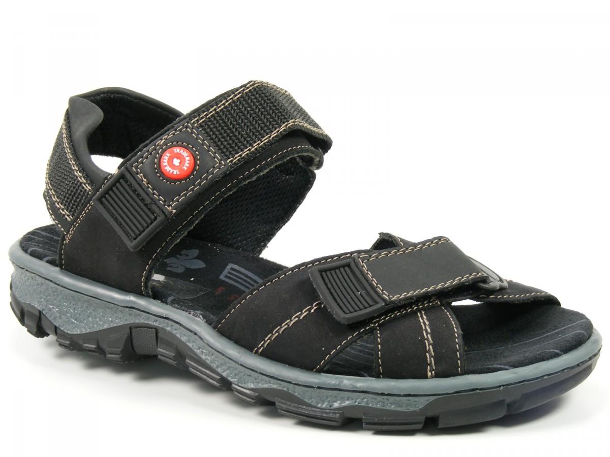 rieker schuhe damen trekking sandalen schwarz 68851 00 ebay. Black Bedroom Furniture Sets. Home Design Ideas