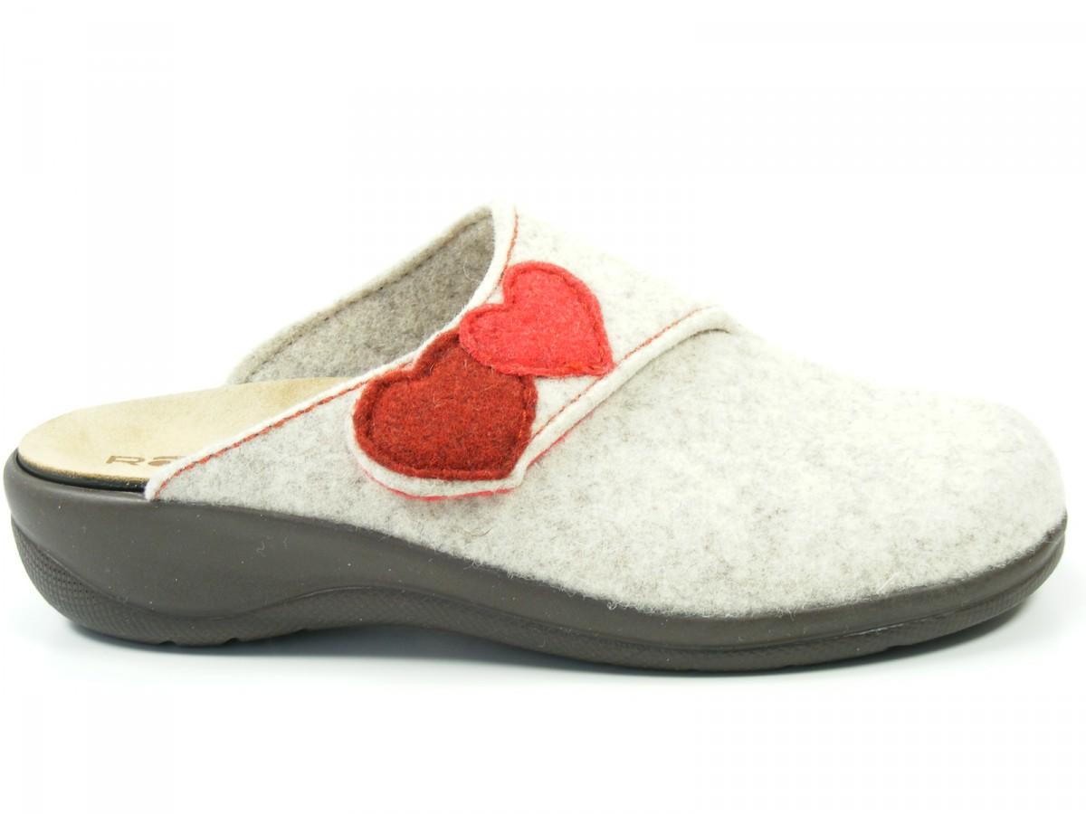 rohde chaussures femmes chaussons pantoufles en feutre semelle int rieure amovible potsdam 6223. Black Bedroom Furniture Sets. Home Design Ideas