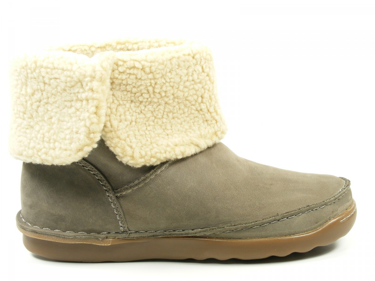 Clarks-Shoes-Womens-Ankle-Slip-On-Boots-Nettle-Leaf