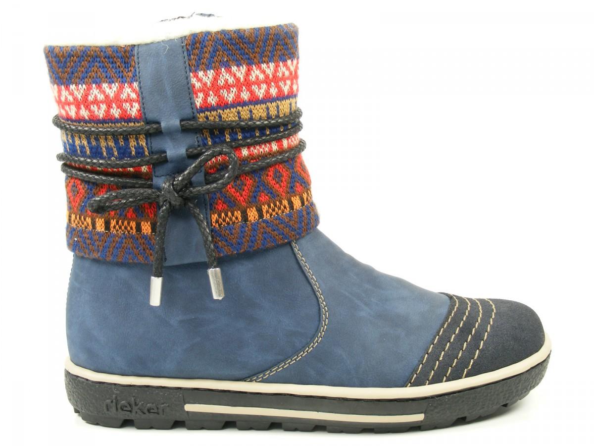 rieker schuhe damen boots stiefeletten wollfutter z8756 ebay. Black Bedroom Furniture Sets. Home Design Ideas