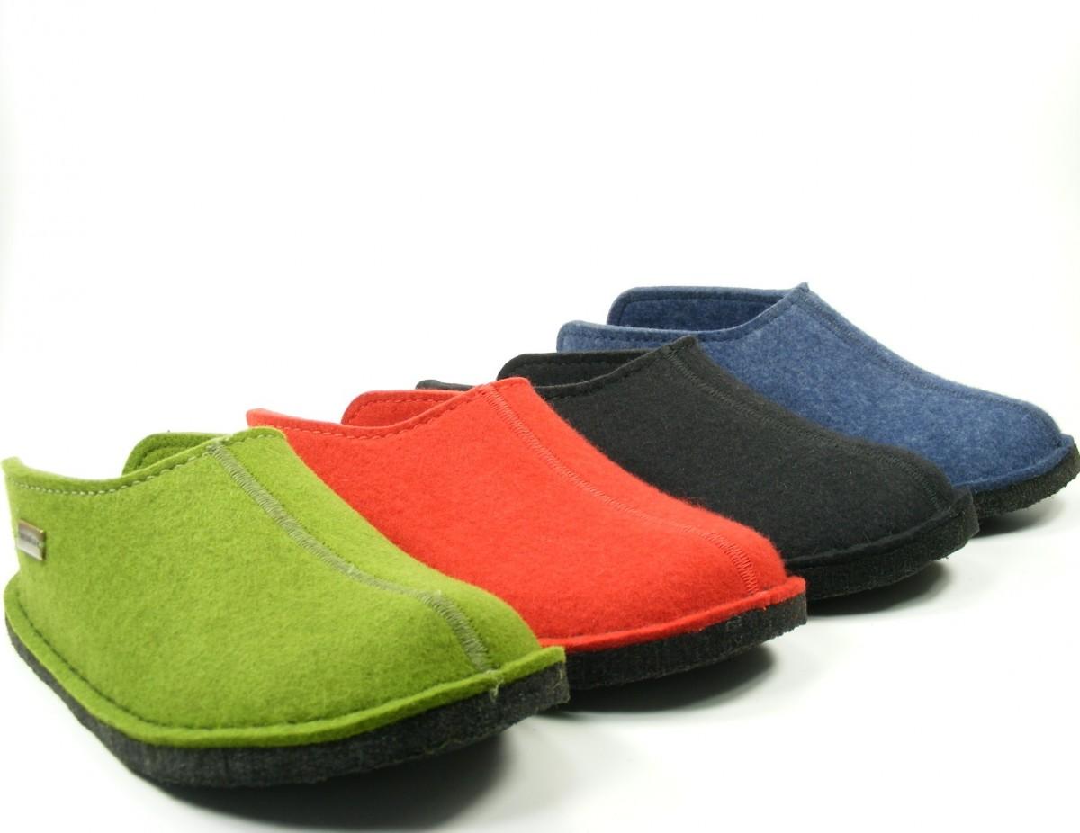 haflinger chaussures dames paire de pantoufles homme feutre de laine flair smily ebay. Black Bedroom Furniture Sets. Home Design Ideas