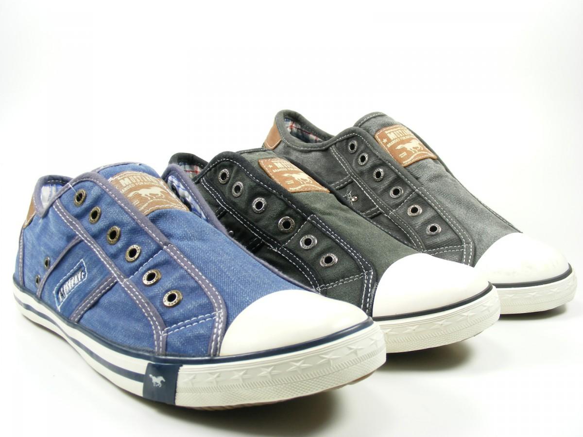 mustang schuhe herren slipper sneaker canvas 4058 401. Black Bedroom Furniture Sets. Home Design Ideas