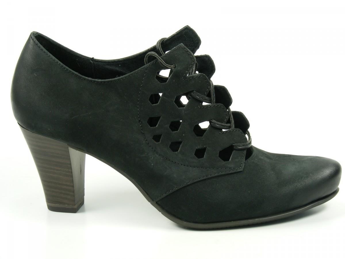 Tamaris Schuhe Damen Schnürschuhe Pumps Leder 1-23305-22