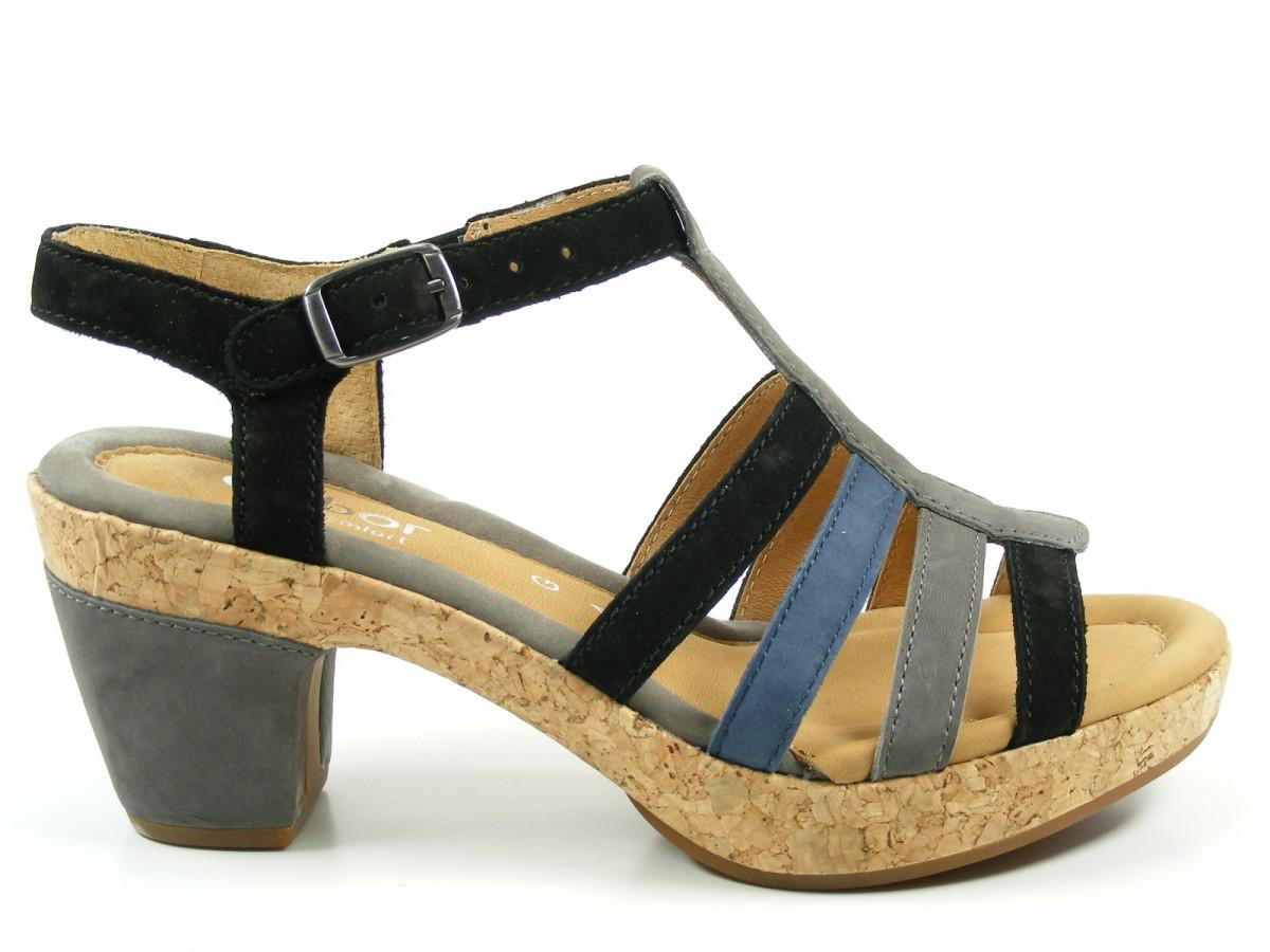 gabor schuhe damen plateau sandalen kork weite g 82 733 ebay. Black Bedroom Furniture Sets. Home Design Ideas