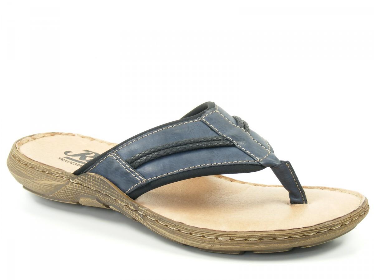 Details zu Rieker Schuhe Herren Pantoletten Zehentrenner 22061