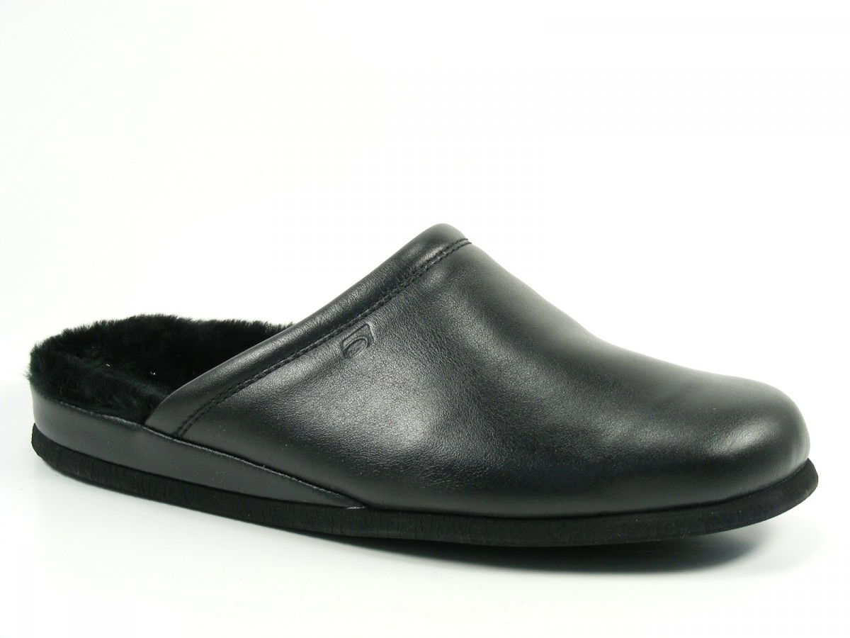 rohde herren hausschuhe pantoffeln leder lammfell 6610 ebay. Black Bedroom Furniture Sets. Home Design Ideas