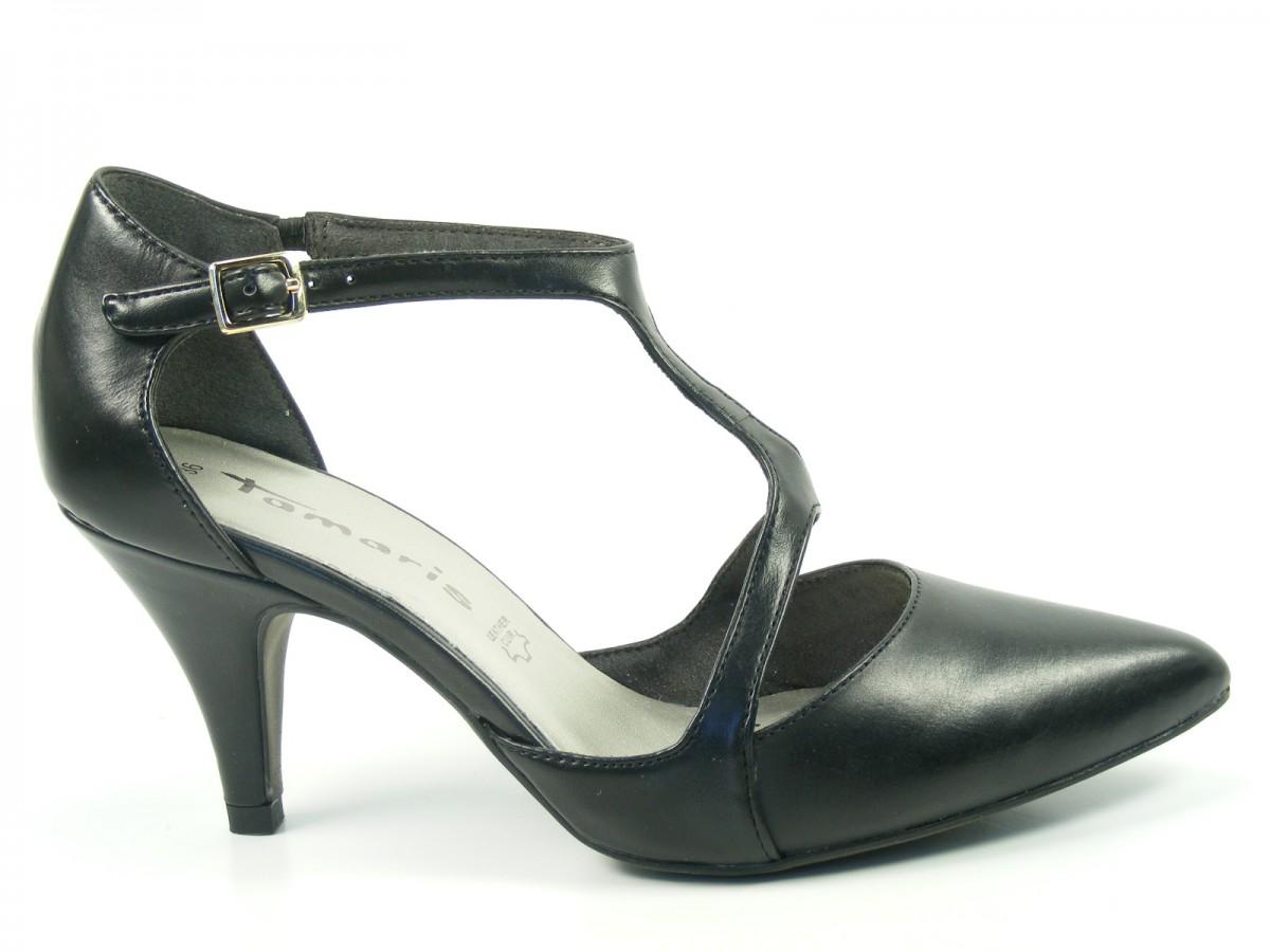 tamaris schuhe spangen pumps high heels stiletto leder 1 24434 32 ebay. Black Bedroom Furniture Sets. Home Design Ideas
