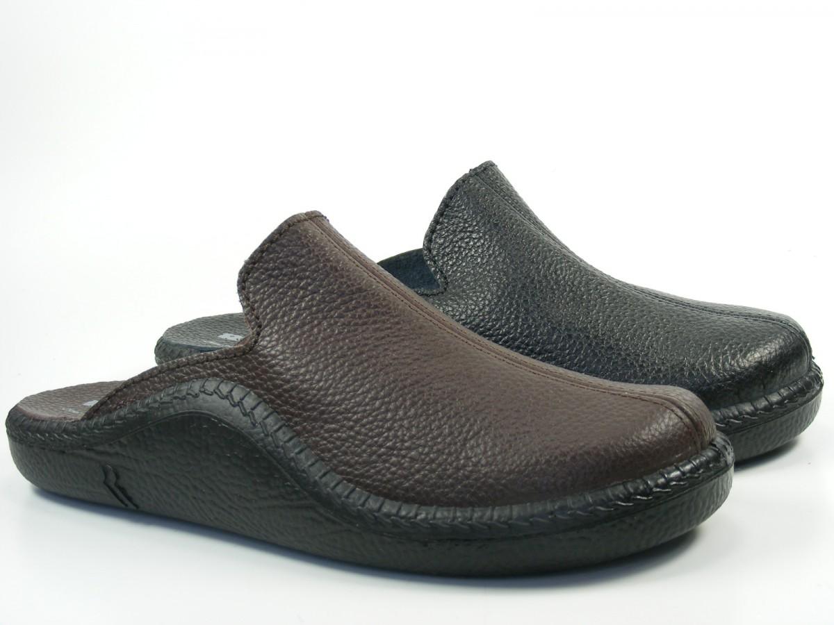 romika herren hausschuhe pantoffeln clogs leder mokasso 202 g 71002. Black Bedroom Furniture Sets. Home Design Ideas