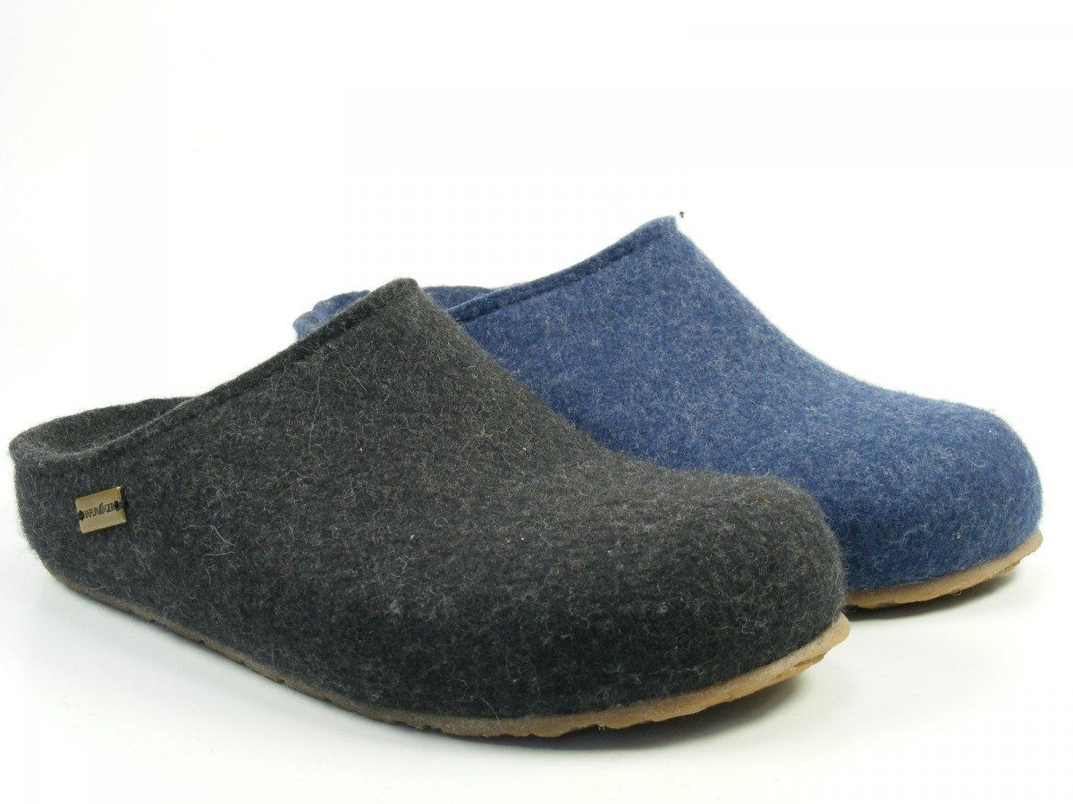 haflinger schuhe damen herren hausschuhe pantoffeln wolle grizzly michel 711033. Black Bedroom Furniture Sets. Home Design Ideas