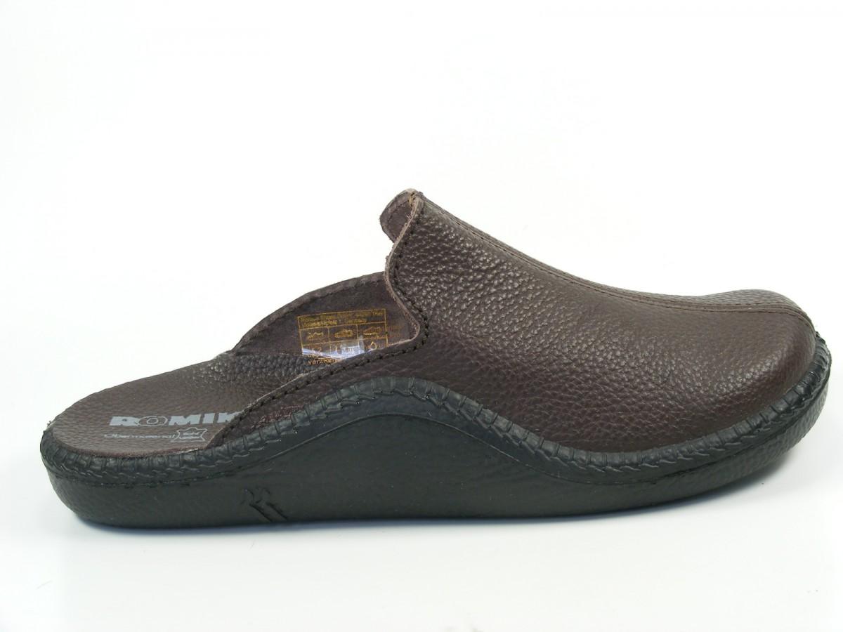 romika herren hausschuhe pantoffeln clogs leder mokasso 202 g 71002 ebay. Black Bedroom Furniture Sets. Home Design Ideas